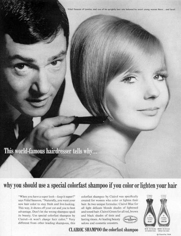 Photo publicitaire pour la coupe Bob de Vidal Sassoon Jewpop