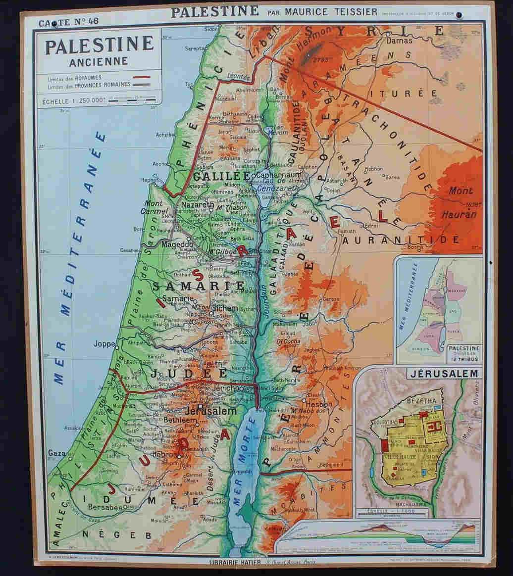 Carte Hatier Palestine