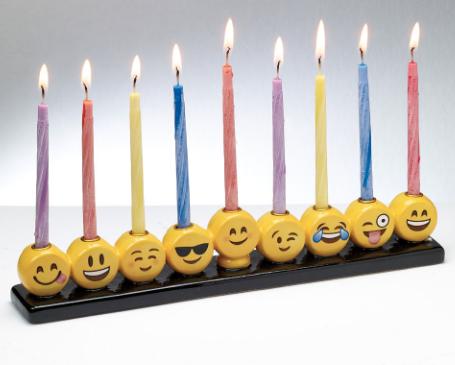 Emoticones menorah Hanouka Jewpop