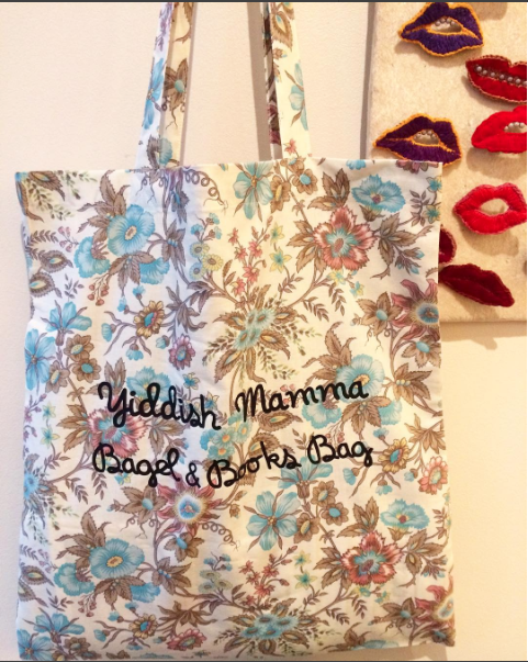 Tote Bag Yiddish Mamma Liberty JewPop