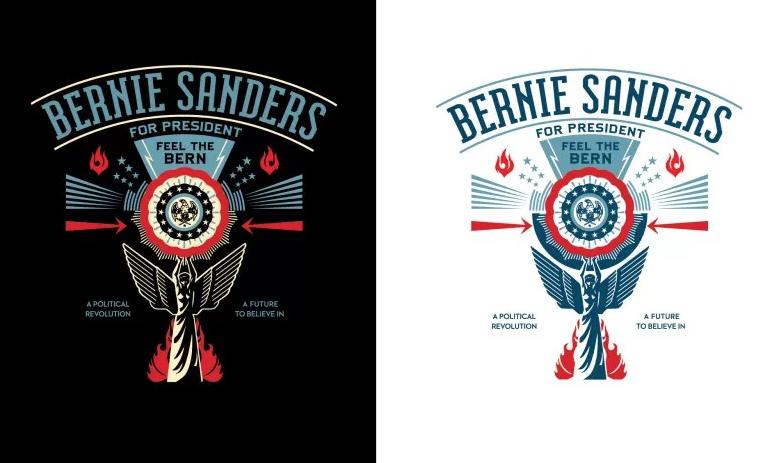 Bernie Sanders Obey Giant JewPop