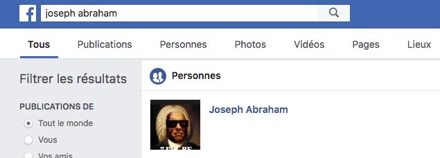 Facebook Joseph Abraham JewPop