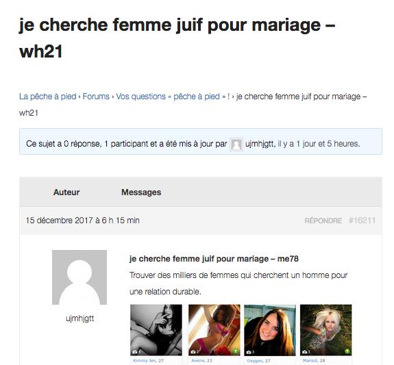 Annonce mariage juif JewPop