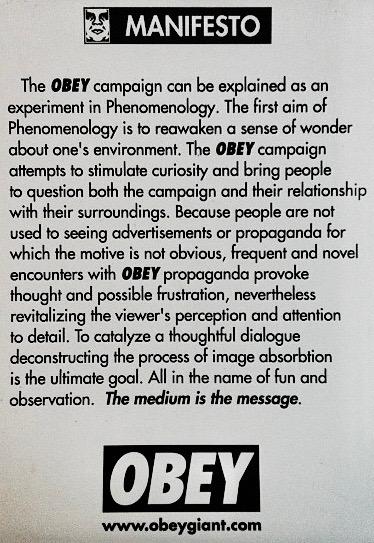 Manifeste Obey Giant JewPop