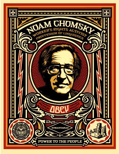 Noam Chomsky Obey Giant JewPop