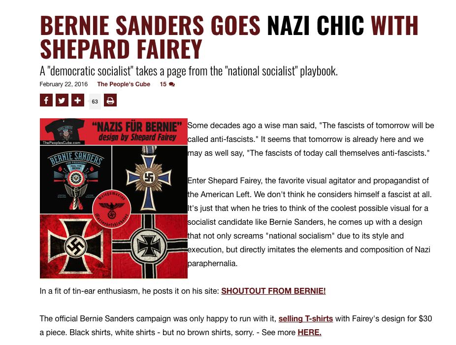 Obey Giant Nazi Chic JewPop
