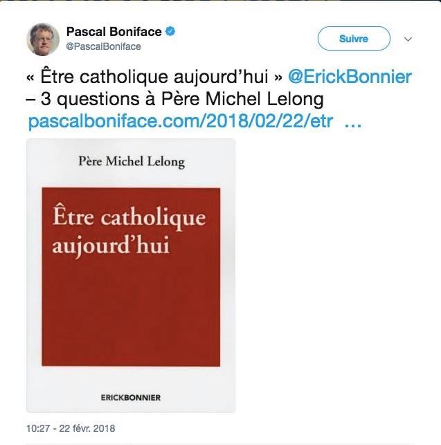 Tweet Pascal Boniface Michel Lelong JewPop