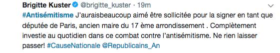 Brigitte Kuster Tweet