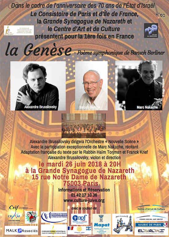 Affiche concert La Genese
