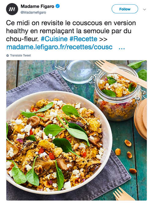 Couscous Madame Figaro