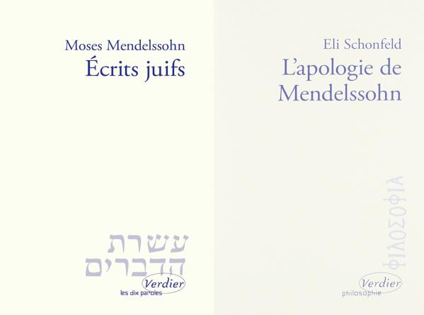 Ecrits juifs Apologie Moses Mendelssohn Verdier Jewpop