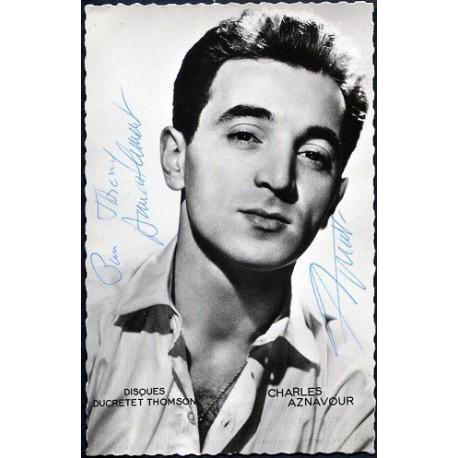 Autographe Charles Aznavour
