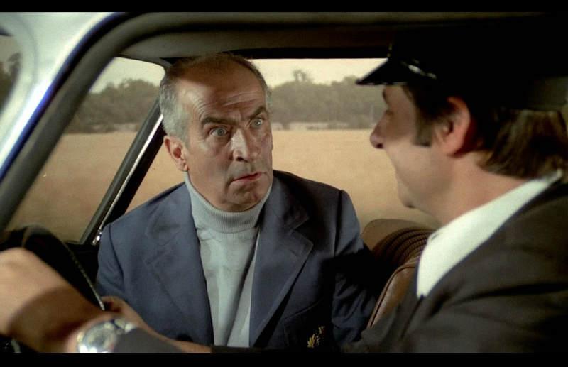 Louis de Funès Henru Guibet en voiture dans Les Aventures de Rabbi Jacob