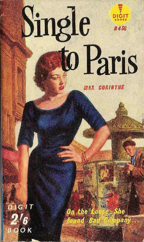 """Photo représentant une couverture de roman """"pulp"""" """"Single in Paris"""" Jewpop"""