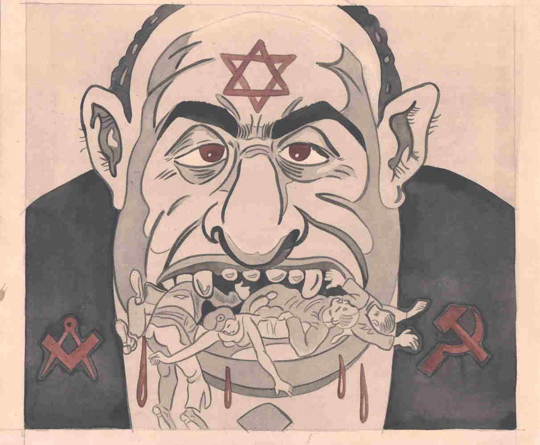 Caricature antisémite Jewpop