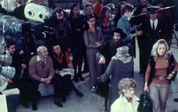 Photo représentant le plateau de tournage du film Les Aventures de Rabbi Jacob Jewpop