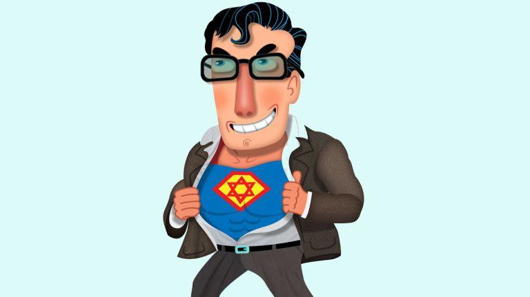 Image représentant un super-héros juif Jewpop