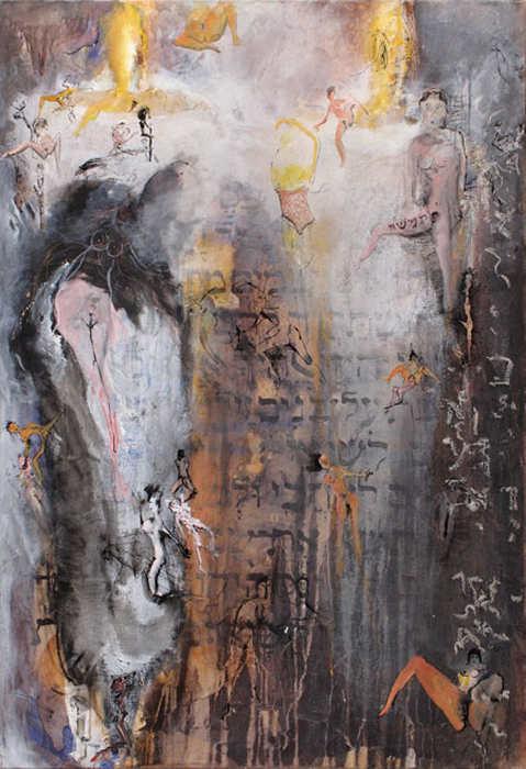 Oeuvre de Serge Goldwitch souvnirs impudiques dans une anciènne synagogue Jewpop