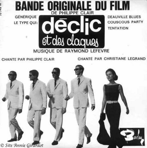 Pochette du 45T de la bo du film de Philippe Clair déclic et des claques Jewpop