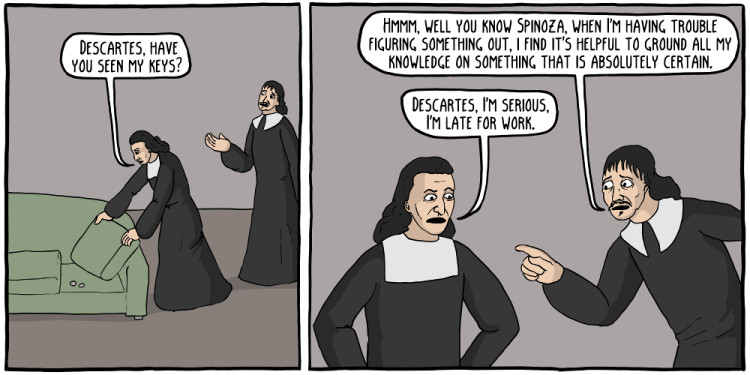 Spinoza cartoon Jewpop