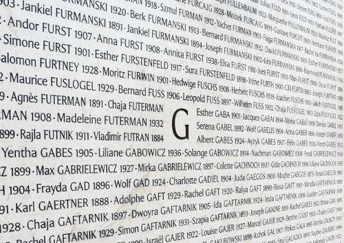Mur des noms au Mémorial de la Shoah YomHaShoah Jewpop