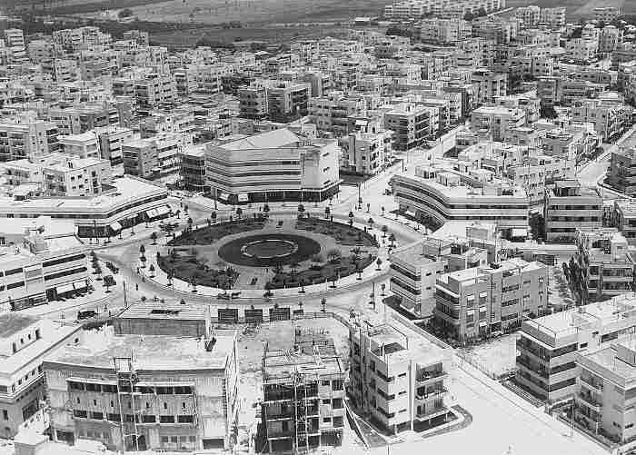 Vue de Tel-Aviv architecture Bauhaus Jewpop