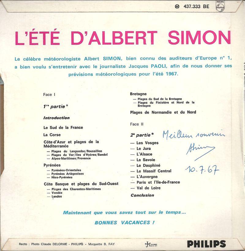 Pochette du 45t L'été d'Albert Simon Jewpop