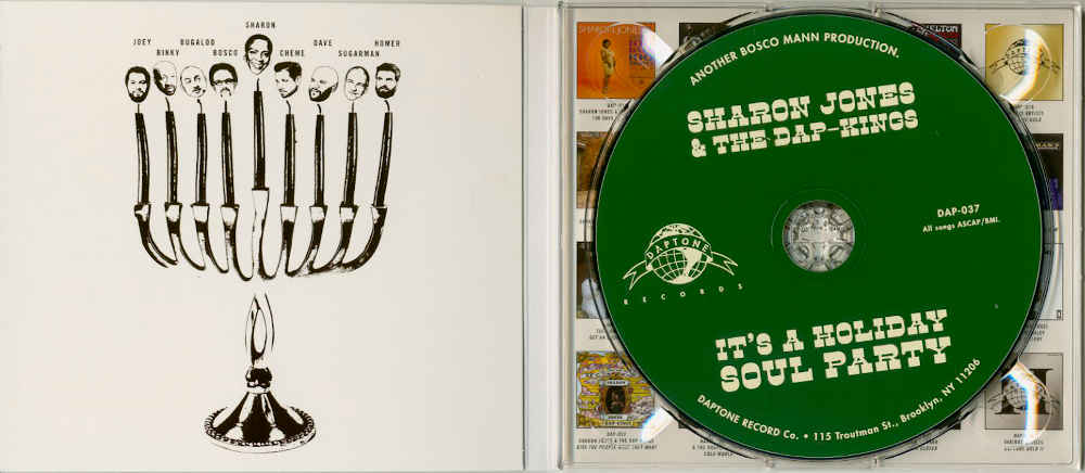 Visuel de la pochette de l'album de Sharon Jones Hanouka Jewpop