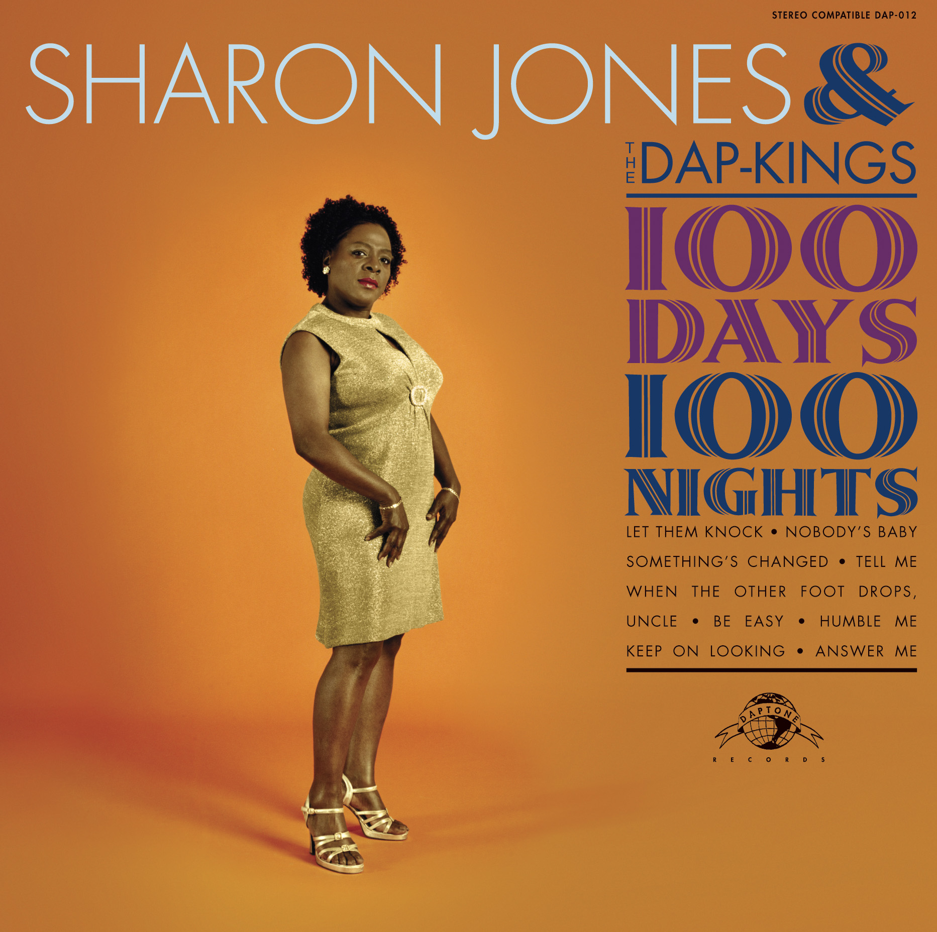 Pochette de l'album de Sharon Jones 100 Days Jewpop