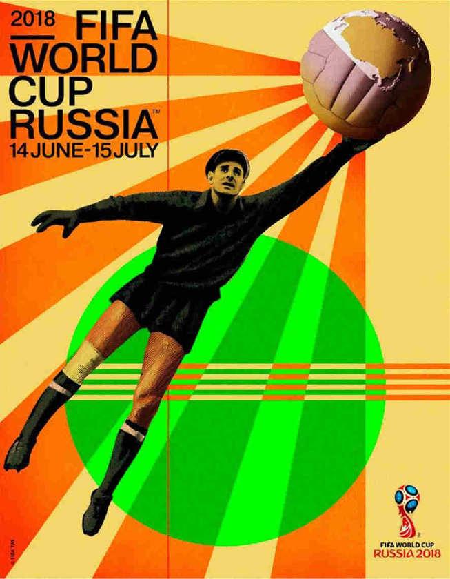 Affiche Coupe du monde Russie 2018 lev yachine
