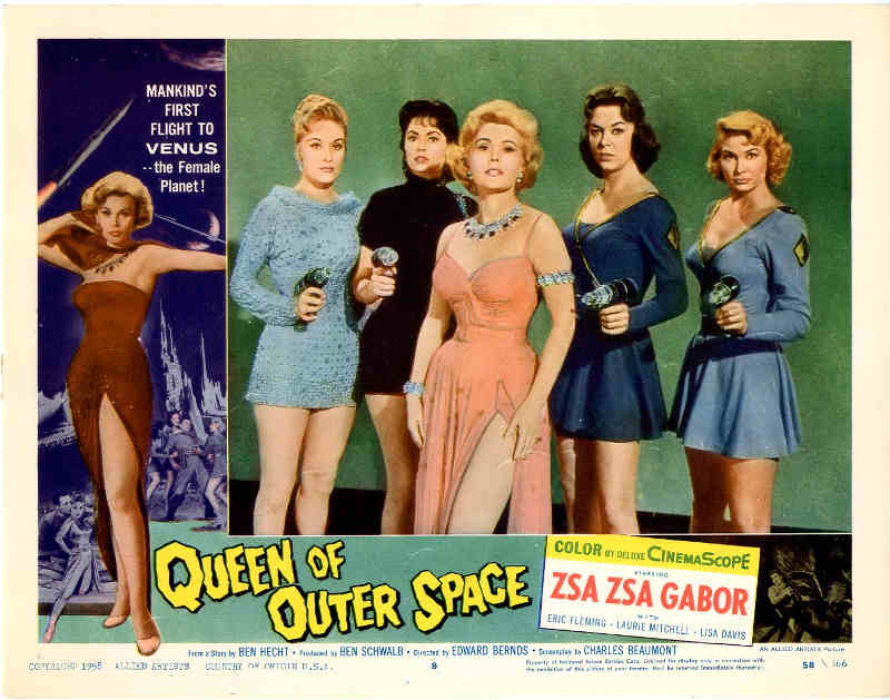 Affiche du film Queen of Outer Space avec Zsa Zsa Gabor Jewpop