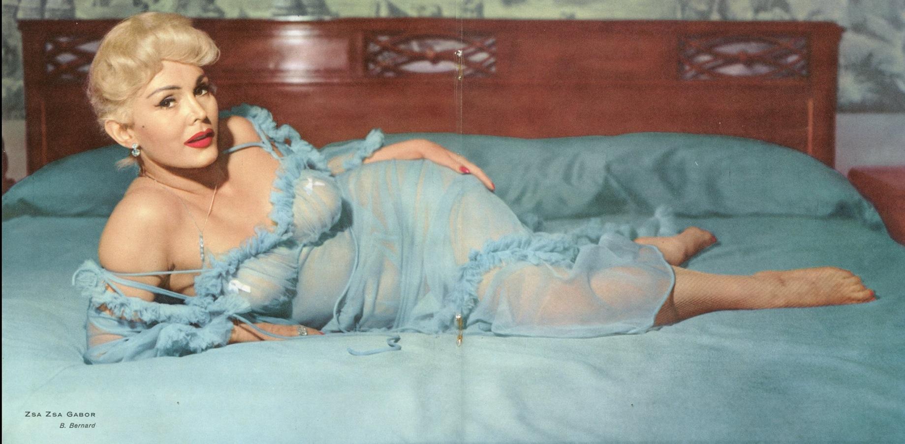Photo de Zsa Zsa Gabor en lingerie Jewpop