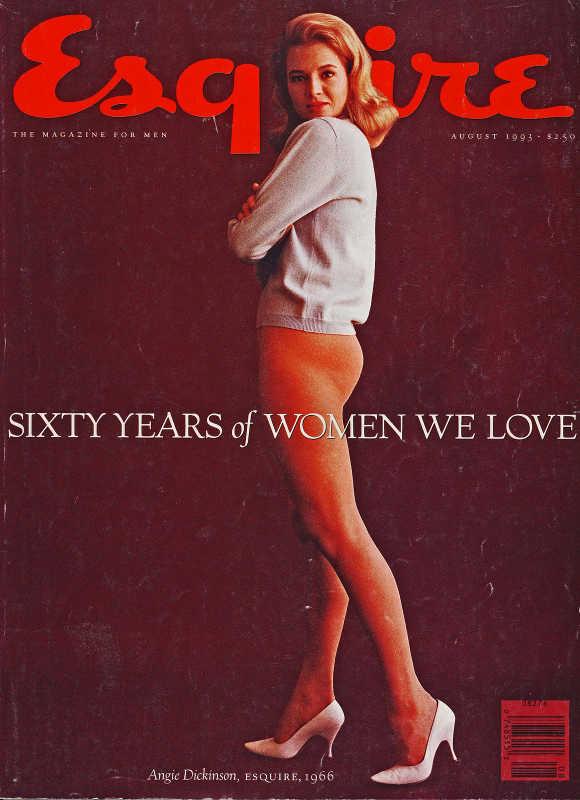 Couverture du magazine Esquire avec Angie Dickinson Jewpop