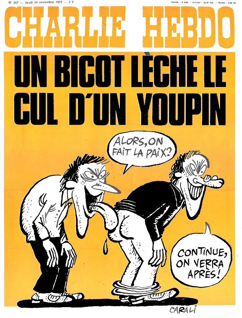 Couverture Charlie Hebdo Bicot Youpin Jewpop