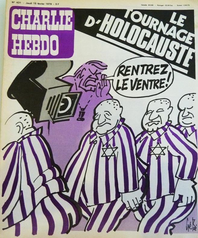 Couverture Charlie Hebdo Holocauste Jewpop