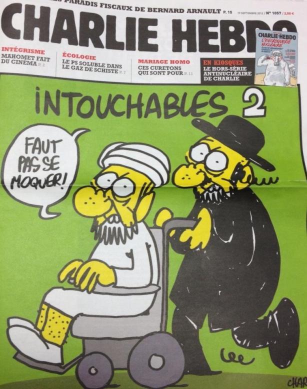 Couverture Charlie Hebdo Intouchables Jewpop