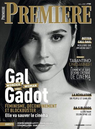 Couverture du magazine Première Gal gadot Jewpop