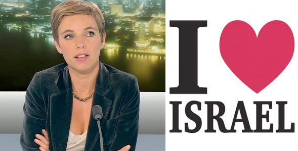 Clémentine Autain in love with Iqsrael