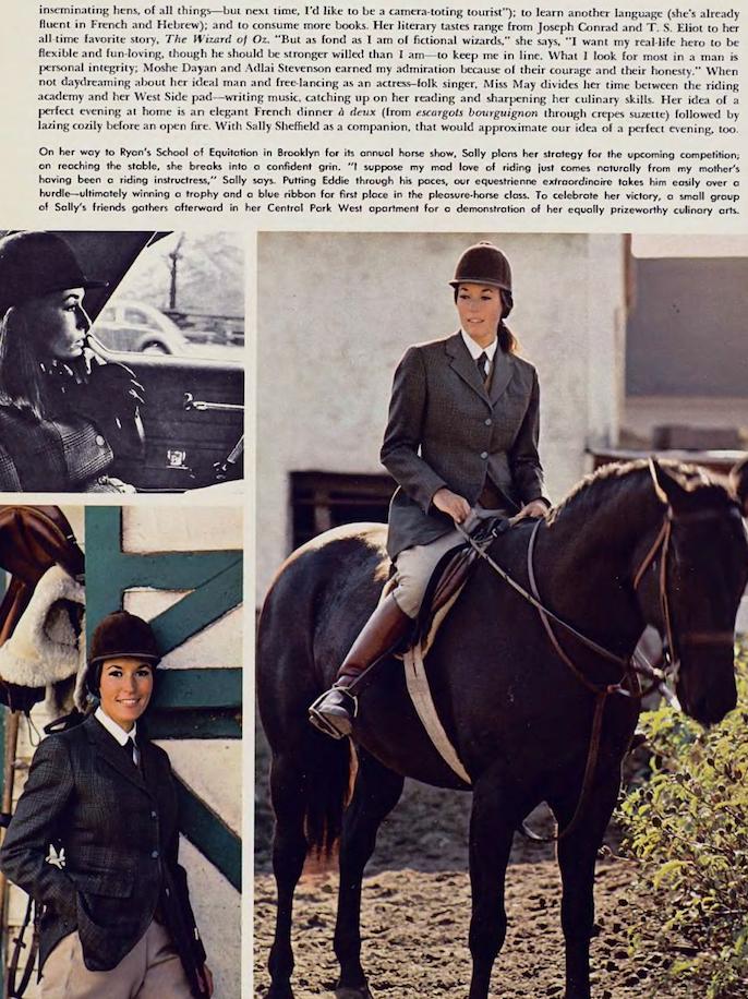 Sally Sheffield Playboy Mai 69 cavalière JewPop