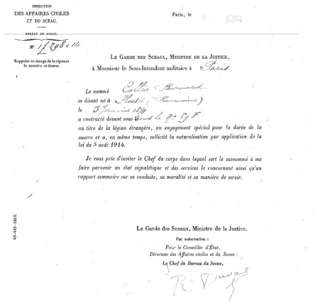 Bernard Collin Légion étrangère JewPop