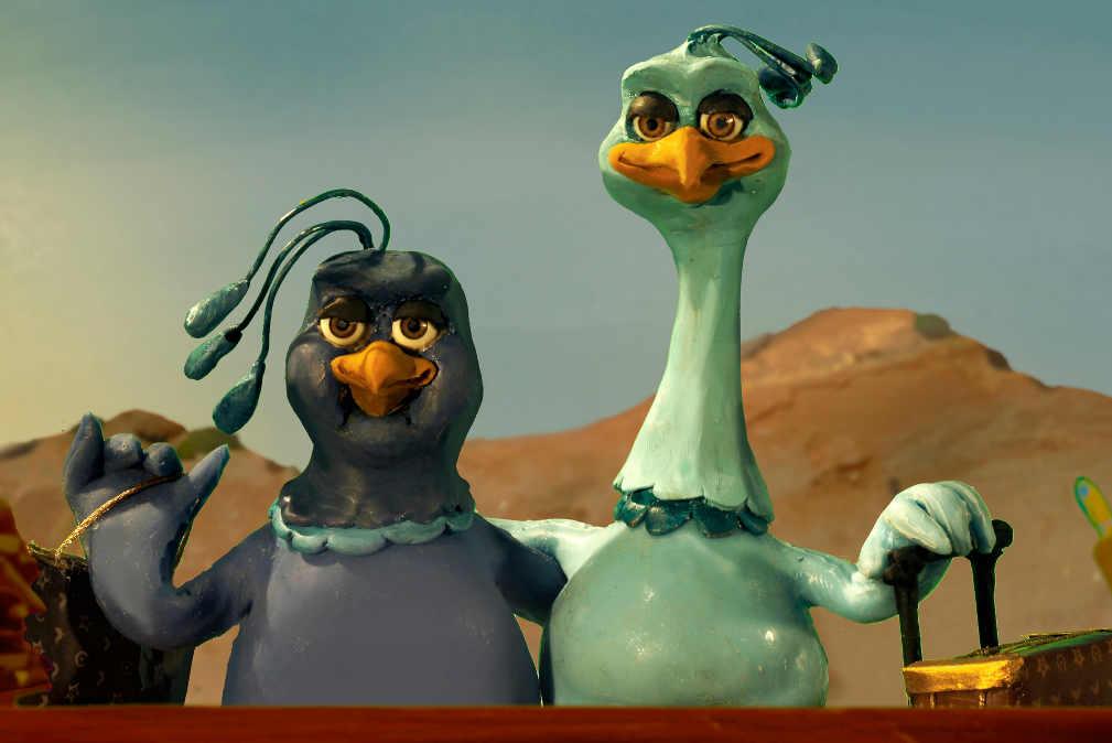 Couple oiseaux Arche Noé Jewpop