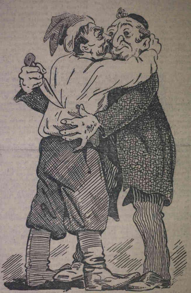 Caricature antisémite Pologne Jewpop