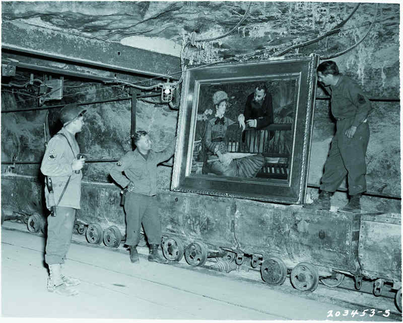 Mine de sel Manet tableauDans la serre Jewpop
