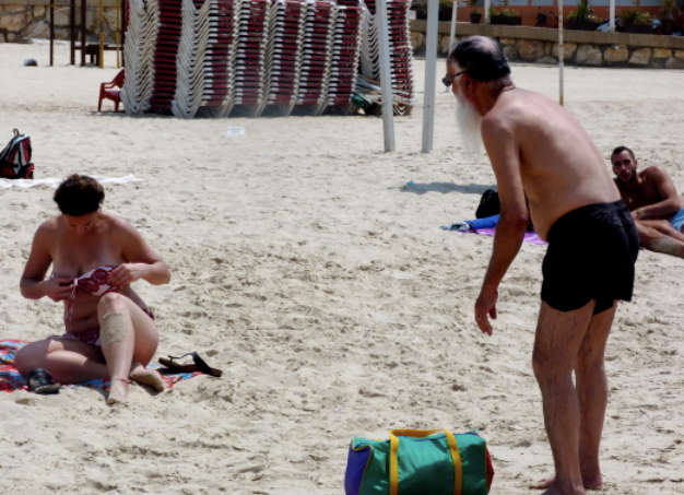 Père Noël plage Tel-Aviv Jewpop