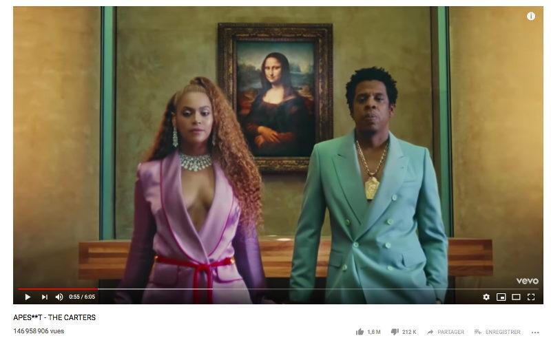 Beyoncé Jay-Z au Louvre clip Jewpop