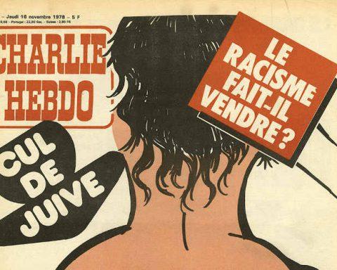 Couverture Charlie Hebdo cul de juive Jewpop