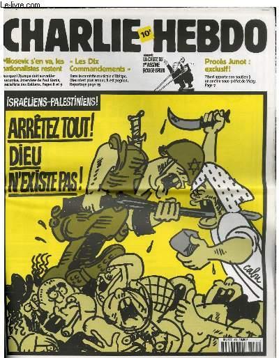 Couverture Charlie Hebdo Palestine Jewpop
