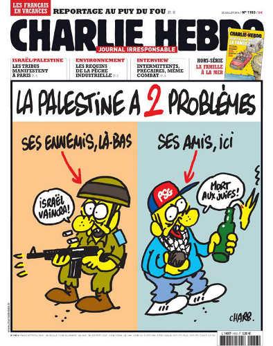 Couverture Charlie Hebdo Israël Palestine Jewpop