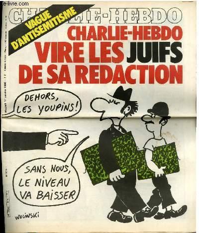 Couverture de Charlie Hebdo juifs Jewpop