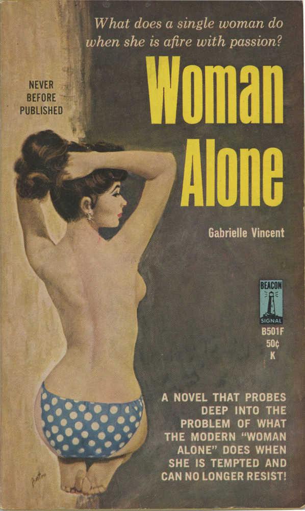 """Phot représentant la couverture d'un """"pulp"""" woman alone Jewpop"""